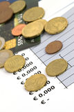 Concept of economy and finance - shallow dof Royalty Free Stock Photos