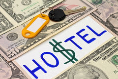 Concept of economy. Hostel is alternative to hotel Royalty Free Stock Image