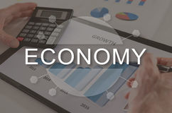 Concept of economy Royalty Free Stock Photos