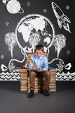 The concept of education with children`s imagination and fantasi Stock Photo
