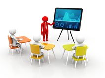 Concept of Meeting, education and learning, Presentation. Isolated white background, 3d render vector illustration