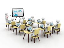 Concept of education and learning,Presentation. Isolated white background, 3d render royalty free illustration