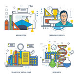 Concept - education, search and acquisition of knowledge, the research job. Stock Photo