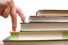 Concept of education, steps to books Stock Photos
