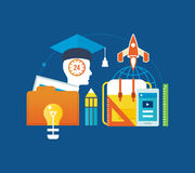 Concept - education and types of , success, motivation  progress. Stock Photos