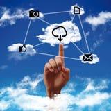 Concept een wolk gegevensverwerking Royalty-vrije Stock Fotografie