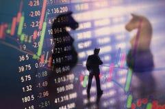 Concept effectenbeursstrategie Stock Fotografie