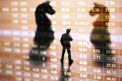 Concept effectenbeursstrategie Stock Foto's