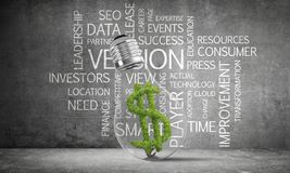 Concept of effective business innovations. stock image