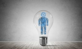Concept of effective innovations for mankind. Royalty Free Stock Photo
