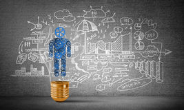 Concept of effective innovations for mankind. Stock Photography