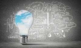 Concept of effective marketing innovations. Stock Images