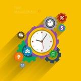 Concept of effective time management. Flat design vector business illustration. Concept of effective time management Stock Photography