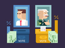 Concept elections design flat Royalty Free Stock Images