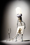 Concept electricity. The image concept of the goods of electricity Stock Photography