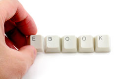 Concept of electronic book Stock Images