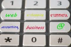Concept elektronische handel en e-winkelt Royalty-vrije Stock Fotografie