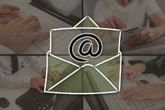 Concept of email Royalty Free Stock Photography
