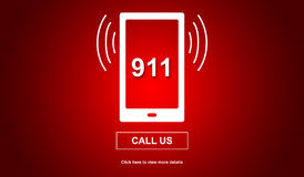 Concept of emergency. With 911 number Stock Image
