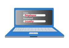 Concept of employee loyalty Royalty Free Stock Images