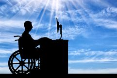 Concept of employment of persons with disabilities Royalty Free Stock Images