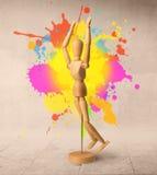 Concept en bois de mannequin Image libre de droits