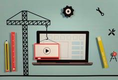 Concept en construction de site Web photos libres de droits