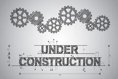 Concept en construction, dessin esquissé. Photos libres de droits