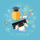 Concept en ligne d'éducation Images libres de droits