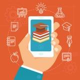 Concept en ligne d'éducation de vecteur Image libre de droits