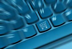 Concept en ligne d'achats Images libres de droits