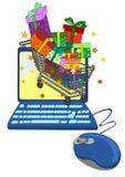 Concept en ligne d'achats Image stock