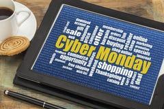 Concept en ligne d'achats de lundi de Cyber Photographie stock libre de droits