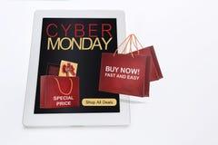 Concept en ligne d'achats de vacances de lundi de Cyber Photographie stock