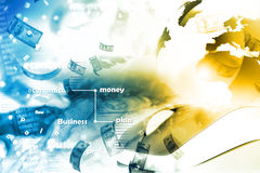 Concept en ligne d'argent illustration stock