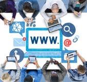 Concept en ligne d'illustration d'Internet de World Wide Web images libres de droits