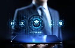 Concept en ligne d'Internet d'affaires d'?ducation d'apprentissage en ligne sur l'?cran image stock