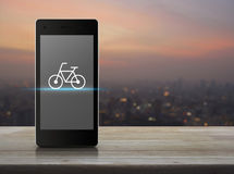 Concept en ligne de boutique de vélo Images libres de droits