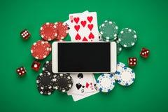Concept en ligne de casino Photo libre de droits