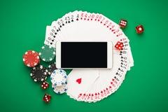 Concept en ligne de casino Photos libres de droits