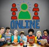 Concept en ligne de communication d'Internet de mise en réseau de connexion Photo stock