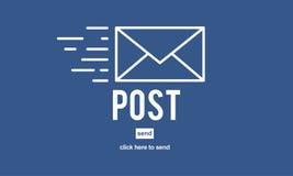 Concept en ligne de communication de message de correspondance de courrier de courrier illustration libre de droits