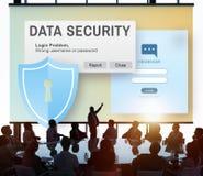 Concept en ligne de Digital Intenret Phishing de protection des données Images libres de droits