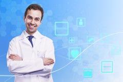 Concept en ligne de médecine Image stock