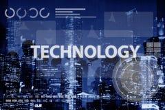Concept en ligne de médias de mise en réseau de connexion de technologie Photos libres de droits