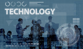 Concept en ligne de médias de mise en réseau de connexion de technologie Photos stock