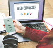 Concept en ligne de page de web browser générique photo stock