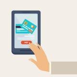 Concept en ligne de paiement illustration de vecteur