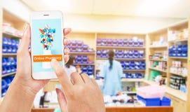 Concept en ligne de pharmacie image stock
