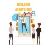 Concept en ligne de réunion Illustration Stock